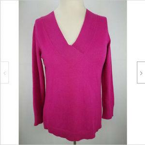 Anthropologie oversize magenta long sleeve sweater
